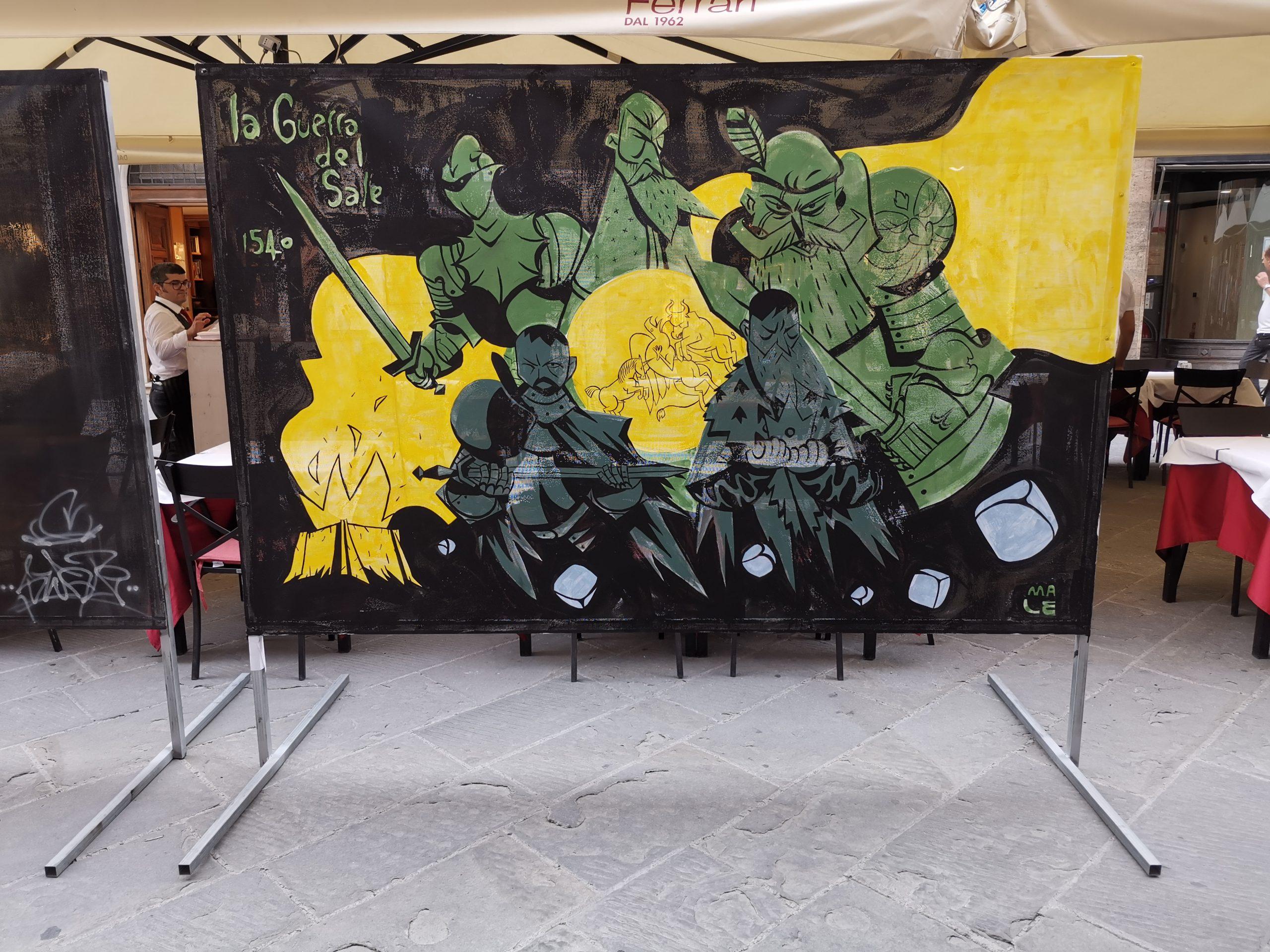 Opera di Marco Leombruni per Perugia Art Project